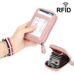 Rfid locks online shopping - Plain Color Anti Rfid Wallet Blocking Reader Lock Bank Card Holder Id Bank Card Case Protection Wallet