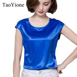 642538367a9a84 Women's Blouse Summer Silk Blouses Good Imitation silk Women Blouse Shirt  Sexy White Casual Tops Party Girls Blusas Femininas #398523