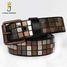 name patches NZ - FAJARINA Brand Name New Unisex Design Men's Metal Patch Cow Skin Leather Belt Unique Punk Styles Belts for Men & Women N17FJ539