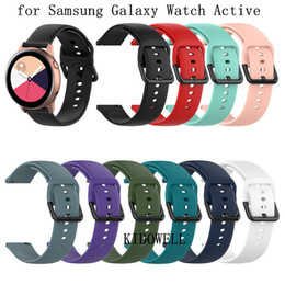 $enCountryForm.capitalKeyWord Australia - 20mm Silicone Watchband for Samsung Galaxy Watch Active R500 42mm Gear S2 Sport Huami Amazfit BIP Ticwatch 2 Replacement Bracelet Band Strap