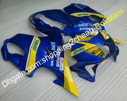 $enCountryForm.capitalKeyWord Australia - ABS Plastic Fairing For Honda CBR600 F4 1999 2000 CBR600F4 99 00 CBR 600F4 Blue Yellow Motorcycle Bodywork Fairings kit (Injection molding)