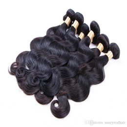 $enCountryForm.capitalKeyWord Australia - Top quality Human Hair Weave Color 1B Body Wave 3 Bundles 300g Cheap Brazilian Peruvian Malaysian Indian Remy Hair weft, shipping free