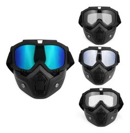 Half Helmet Goggles Australia - Hot Sales Modular Mask Detachable Goggles And Mouth Filter Perfect for Open Face Motorcycle Half Helmet or Vintage Helmets