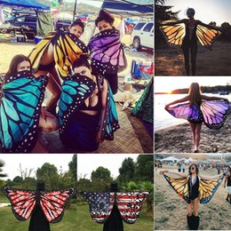 $enCountryForm.capitalKeyWord Australia - Multi-style Colorful Soft Fabric Butterfly Wings Fairy Cover-Ups Ladies Summer Beach Wrap Costume Accessory