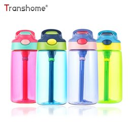 classic plastics Australia - Transhome Kids Water Bottle With Straw 500ml Plastic Water Bottles For Kids Bottles Bpa Free Sports Bottle School Drinkware J190722