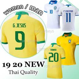Jersey brazil thai online shopping - Thai Brazil soccer jersey G JESUS COUTINHO VINICIUS jersey football shirt MARCELO camisa de futebol copa america