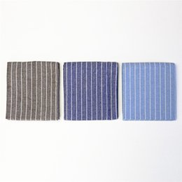 Western Product Australia - 5pcs 2019 new products: striped cotton and linen cloth, western table cloth, plate cushion, heat insulation pad, tea towel background cloth