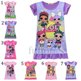44bb17e67 Girls niGht sleepinG dress online shopping - Girls LOL Dress Y INS Baby  Night Dresses LOL