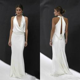 a3f176819aaf Plus Size Engagement Party Dresses UK - Abendkleider Vestidos de fiesta  largos simple white evening gowns
