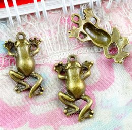 Antique Brass Diy Pendants Australia - 50pcs 18*10MM antique bronze fashion brass alloy animal frog charms for bracelet vintage metal pendants earring handmade DIY jewelry makin