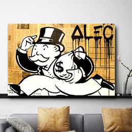oil art nude man UK - Monopoly man Paintings On Star Canvas Wars Modern Art Poster Decorative Wall Pictures Home Decoration
