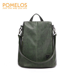 urban phone UK - POMELOS Backpack Female Women PU Leather Backpack Bag Anti Theft High Quality Softback Urban Fashion Backpacks For Girls Women CJ191210