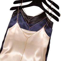 29497bc69b 2019 New Arrival Summer Women Fashion Sexy V Low Cut Grosgrain Metal Strip  Short Solid Crop Top Female Beach Club Colar Camisole