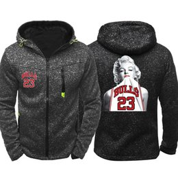 c3b5ac6ffd5c Monroe jackets online shopping - Marilyn Monroe Print Men Sports Casual  Wear Hoodies Zipper Fashion Trend
