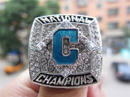 $enCountryForm.capitalKeyWord Australia - 2016 Coastal Carolina Chanticleer s Baseball National Championship Ring Silver color Souvenir Men Fan Gift 2019 wholesale Drop Shipping
