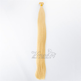 brown hair bonding Canada - European Russian 1g Strand 100g Black Brown 613 Blond Straight Pre Bonded Keratin Stick Double Drawn I Tip Virgin Human Hair Extensions