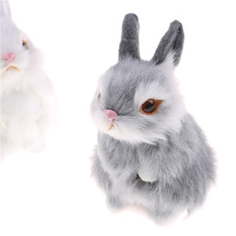 $enCountryForm.capitalKeyWord UK - Kids Toys Decorations Birthday Gift Simulation mini pocket toy Cute Artificial Animal Small Rabbit Plush Toys With a frame