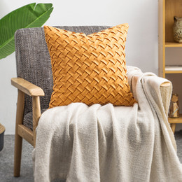 $enCountryForm.capitalKeyWord NZ - Suede Fabric Woven Cushion Cover Bohemian Pillowcase Cover For Sofa Chair Car Home Decorations 45*45 (no inner filled)