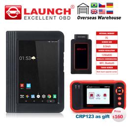 Venta al por mayor de Lanzamiento X431 V 8 pulgadas WiFi / Bluetooth Sistema Completo Herramienta de Diagnóstico OBD 2 años de actualización gratuita compatible con el inyector de codificación KeyKey + CRP123 regalo