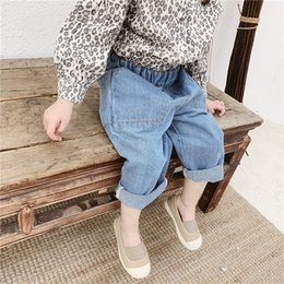 $enCountryForm.capitalKeyWord NZ - Baggy hair band spring 2019 children's wear new children's baby jeans trousers boys and girls harem pants 19036