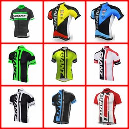 Giant Bicycles Shirts Australia - GIANT team Cycling Short Sleeves jersey summer Bike Bicycle Clothing shorts Bicycle shirt Breathable wear 51519