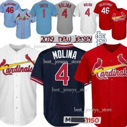 86e6755115b Paul 46 Goldschmidt jerseys St. Louis Cardinals Yadier 4 Molina 25 Dexter  Fowler jersey 2019 Top MEN Best selling Jersey