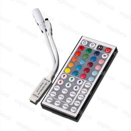 $enCountryForm.capitalKeyWord Australia - LED RGB Controller DC12V 24V 6A 44key Mini RF Wireless Remote Dimmer For 5050 3528 RGB Flexible 30W 144W 288W Strip Light DHL