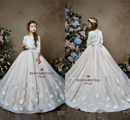 109d7385107d Red white dResses foR toddleRs online shopping - Modest Lace Long Flower  Girl Dresses For Wedding