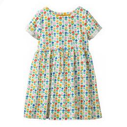 a9a187e87cf5 kids designer clothes Yellow Flower Girls Dresses kids designer clothes  100% Cotton Quality Striped Cartton Baby Girls Dresses