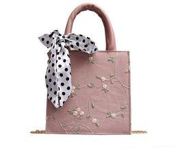 $enCountryForm.capitalKeyWord UK - New lace handbag Hundred-hung silk scarf with one shoulder and oblique Bag