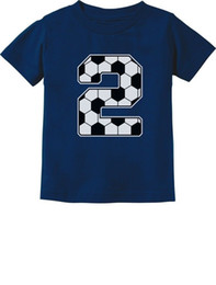 2nd Birthday Gift 2 Year Old Soccer Fan Toddler Kids T Shirt For Two Funny Free Shipping Unisex Casual Tshirt