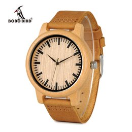 $enCountryForm.capitalKeyWord NZ - Bobo Bird Mens Watches Top Brand Luxury Women Watch Wood Bamboo Wristwatches With Leather Strap Relogio Masculino Drop Shipping Y19062004
