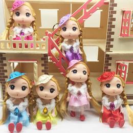 Dolls Practical 12 Cm Fashion Doll Key Chain Ornament Pendant Children Gift Toy Fine Quality Dolls & Stuffed Toys