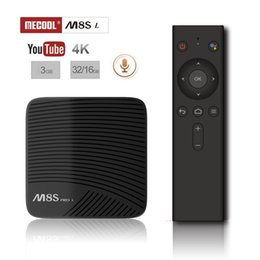 M8s Android Tv Boxes Australia - 5pcs Voice control MECOOL M8S PRO L ATV Android TV OS Amlogic S912 3GB 16GB 32GB Octa core Dual Wifi Smart TV Box