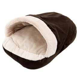 $enCountryForm.capitalKeyWord Australia - New Pet Soft Dog Cat Bed House Winter Warming Nest Mat For Small Dogs Sleeping Bag Chihuahua Teddy Kennels brown 54 * 40 * 30CM