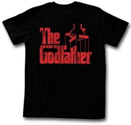 men red t shirt NZ - The Godfather Red Movie Logo Adult T Shirt Classic Gangster Movie Men Women Unisex Fashion tshirt Free Shipping