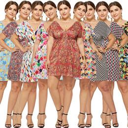59a4ff6f4f Beach Vacation Maxi Dresses Australia - Women Summer Dress Plus Size Fashion  V-neck Digital