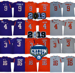 3 Xavier Thomas 2019 Championships 4 Deshaun Watson Clemson Tigers Jerseys  9 Travis Etienne JR. Trevor Lawrence College Football Jersey 22ef96b8e
