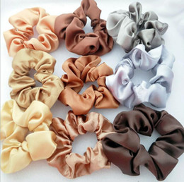 Wholesale Lady Hair Scrunchies ring stretch hair band solid color elastic bubble sports dance velvet soft charming hair band