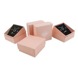 $enCountryForm.capitalKeyWord UK - Pure pink plain jewelry box jewelry package Necklace Box Pendant ear nail Bracelet box WL666