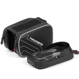 $enCountryForm.capitalKeyWord Australia - PROMEND bike bag mountain bike tube saddle bag waterproof touch screen mobile phone riding equipment(Black)