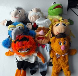 Wholesale swedish chef resale online - The Muppets Puppet Kermit Frog Fozzie Bear Swedish Chef Miss Piggy Gonzo Plush Stuffed cm Hand Puppets Baby Kids Children Toys Y200703