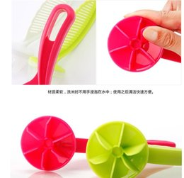 Wholesale Plastic Kitchen Strainer Australia - Rice Strainer Plastic Kitchen Tools Rice Beans Strainer Sifters Wash Gadget Tools Kitchen Clips Tools DHL Free Shipping