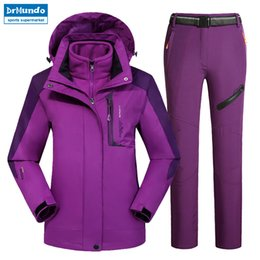 pink snow suit NZ - Outdoor Moutain Women Waterproof Skiing Ski-wear jacket Suits Snowboard jacket Ski suit Large Size Snow jackets Plus Size T190920