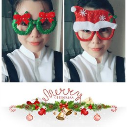 designer eye frames for women NZ - Christmas Eyeglass Frame Christmas New Year Party Fancy Dress Up Decor for Eyes Creative Gift Photo Props for Kids