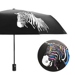 $enCountryForm.capitalKeyWord NZ - Folding Portable Umbrella Color Changing Zebra Umbrella Anti-Uv Sunshade Rain Cover