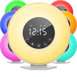 $enCountryForm.capitalKeyWord NZ - Sunrise Alarm Clock Digital LED Clock with 6 Color Switch and FM Radio for Bedrooms Multiple Nature Sounds Sunset Simulation & Touch Control