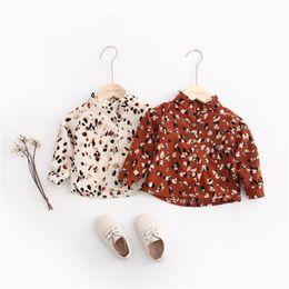 $enCountryForm.capitalKeyWord Australia - Fall New INS Little Girls Blouses Shirts Chiffon Cotton Fabric Floral Printing Ruffles Stand Collar Casual Lovely Children Girls Shirts Tops