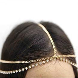 $enCountryForm.capitalKeyWord Australia - Fashion Women Metal Gold Silver Multilayer Boho Head Chain Headband Headpiece Bridal Wedding Hairstyle Hair Accessories