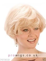 Human Hair Wig Beautiful UK - 100% Real Hair Beautiful Sexy Short Blond Curly Wig For Women Human Hair NEW